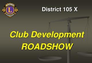 District 105 X