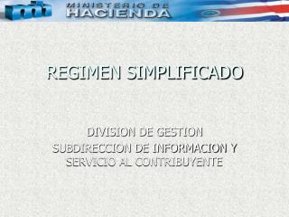 REGIMEN SIMPLIFICADO