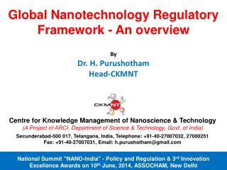 Centre for Knowledge Management of  Nanoscience  & Technology
