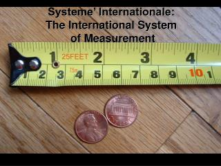Systeme' Internationale:  The International System  of Measurement