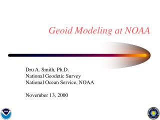 Geoid Modeling at NOAA