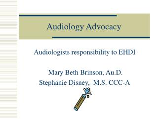 Audiology Advocacy