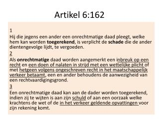 Artikel 6:162