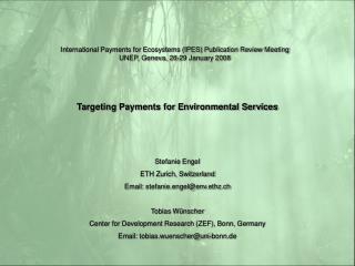Targeting Payments for Environmental Services