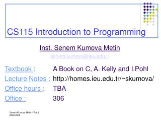 CS115 Introduction to Programming