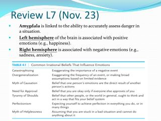 Review L7 (Nov. 23)