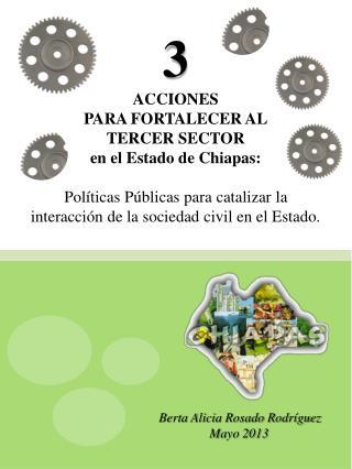 3 ACCIONES PARA FORTALECER AL TERCER SECTOR en el Estado de Chiapas: