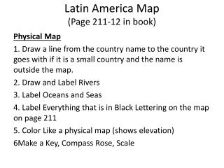 Latin America Map (Page 211-12 in book)