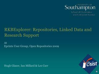 RKBExplorer: Repositories, Linked Data and Research Support