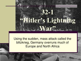 "32-1  ""Hitler's Lightning War"""