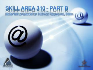 Skill Area 310 – Part B