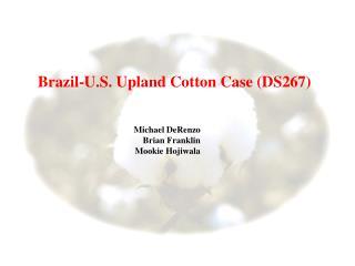 Brazil-U.S. Upland Cotton Case (DS267)