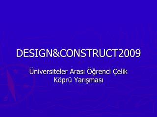 DESIGNCONSTRUCT2009