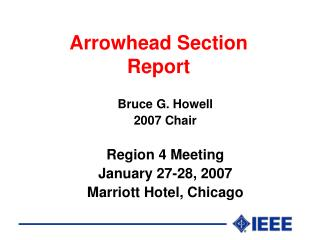 Arrowhead Section Report