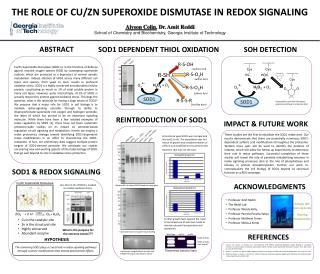 THE ROLE OF CU/ZN SUPEROXIDE DISMUTASE IN REDOX SIGNALING