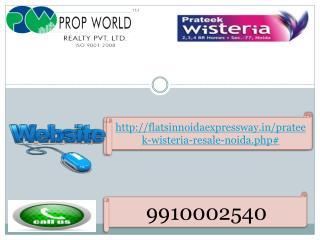 Prateek Wisteria Resale (9910002540) Price Flats in Noida Se