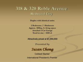 318 & 320 Roble Avenue Redwood City