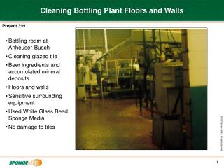 Cleaning Bottling Plant Floors and Walls