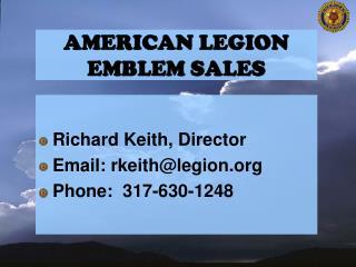 American legion emblem sales