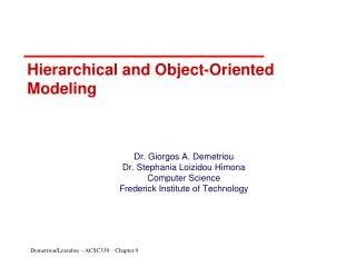 Hierarchical and Object-Oriented Modeling