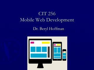 CIT 256 Mobile Web Development