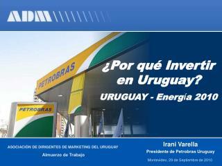 ¿ Por qué Invertir en Uruguay?  URUGUAY - Energ í a 2010