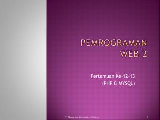 Pemrograman Web 2
