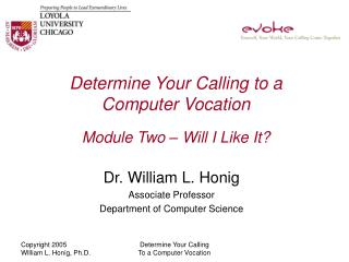 Determine Your Calling to a Computer Vocation