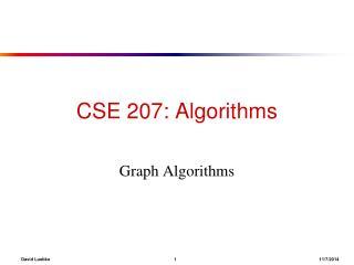 CSE 207: Algorithms
