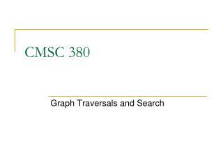 CMSC 380