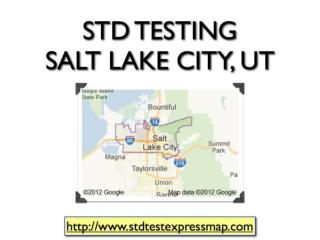 STD Testing Salt Lake City