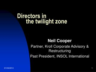 Directors in        the twilight zone