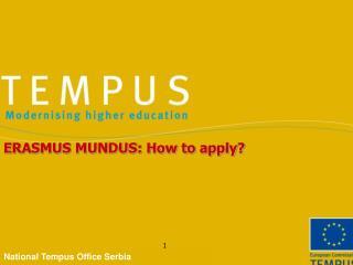 ERASMUS MUNDUS: How to apply?