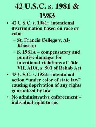 42 U.S.C. s. 1981  1983