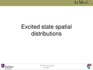 Excited state spatial distributions