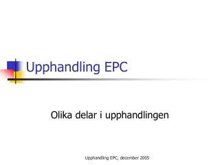 Upphandling EPC