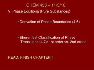 CHEM 433 – 11/5/10