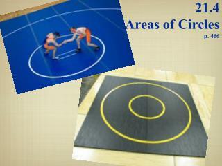 21.4  Areas of Circles p. 466