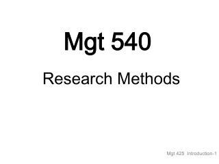 Mgt 540