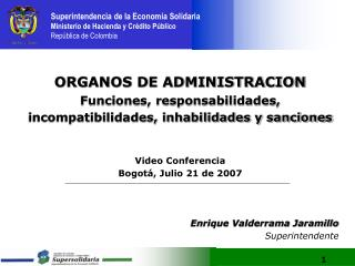 ORGANOS DE ADMINISTRACION