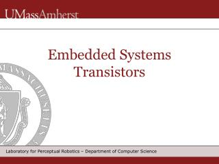 Embedded Systems Transistors