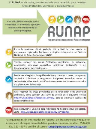 Con el RUNAP Colombia podrá consolidar su inventario y proveer información unificada de las