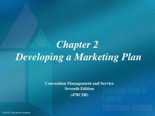 Chapter 2  Developing a Marketing Plan