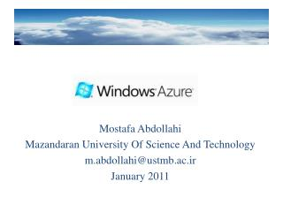 Mostafa Abdollahi Mazandaran  University Of Science And Technology m.abdollahi@ustmb.ac.ir