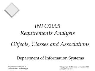 INFO2005  Requirements Analysis