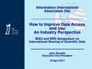 Information International  Associates (IIa) __________________________