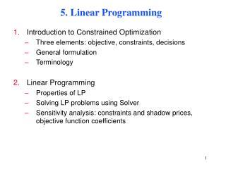 5. Linear Programming