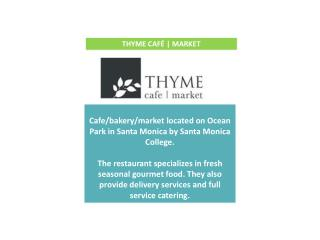 Cafe/bakery/market  located on Ocean  Park  in  Santa Monica by Santa Monica College .