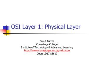 OSI Layer 1: Physical Layer