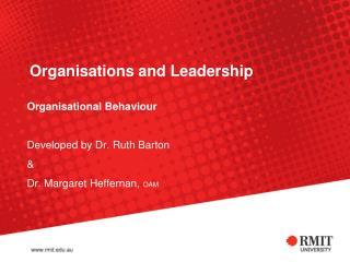 Organisations  and Leadership